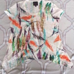 😎3 for $15 Feather Handkerchief Graphic T Shirt
